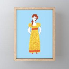 Girl in victorian dress Framed Mini Art Print
