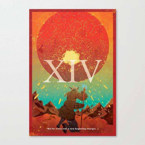 Vintage FF Poster XIV Canvas Print
