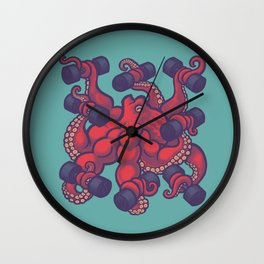 Tentacurls Wall Clock