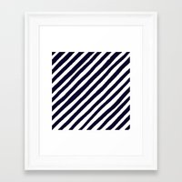uncharted Framed Art Prints featuring Uncharted Lines by Social Proper
