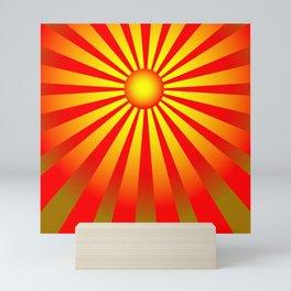 Golden sunrise Mini Art Print