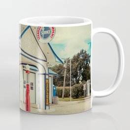 Standard Oil Station Odell Illinois Route 66 Restored Petrol Gas Service Station Coffee Mug