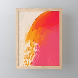 The Bright Abstract Waterfall Framed Mini Art Print