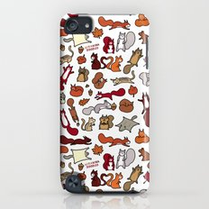 Squirrels in Fall Doodle iPod touch Slim Case