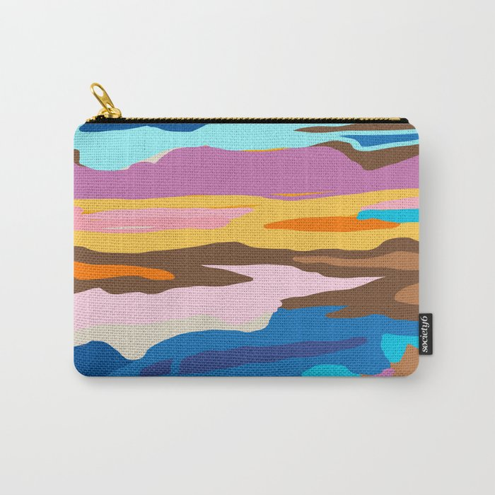 Shape and Layers no.19 - Abstract Modern Landscape Carry-All Pouch