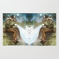 """dragon age Area & Throw Rugs featuring Dragon Age Inquisition - Cole - Charity by Barbara """"Yuhime"""" Wyrowińska"""