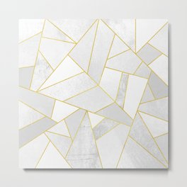 White Stone Metal Print