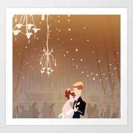 Barn Wedding Art Print