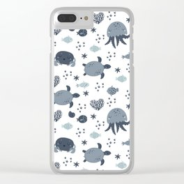 Sea animals patterns Clear iPhone Case