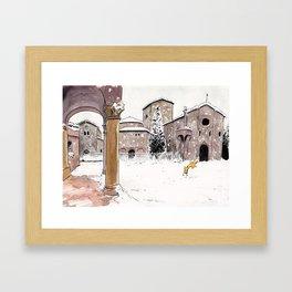 Fox in Bologna Framed Art Print