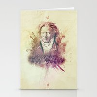 beethoven Stationery Cards featuring Beethoven by Rafal Rola