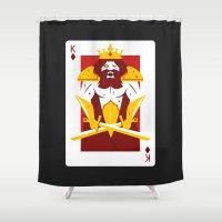 berserk Shower Curtains featuring King of Diamonds - Berseker King by Thirdway Industries Shop