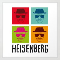 popart Art Prints featuring Heisenberg Popart by Nxolab