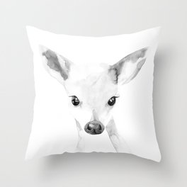 Baby Deer Throw Pillow