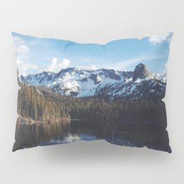 Snowy Peak and Lake Pillow Sham