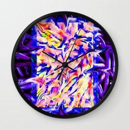 Liquified Veggies Wall Clock