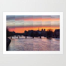 Sunrise over ile de la Cite - Paris Art Print