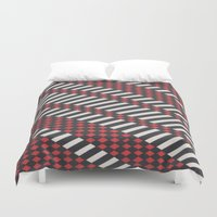 stripes Duvet Covers featuring Stripes by MissCrocodile63