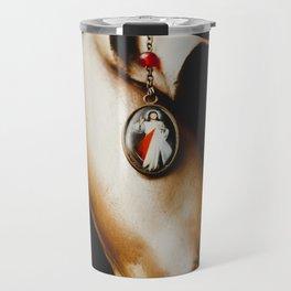 Detail of Jesus crucified Travel Mug