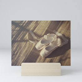 Ballet dance shoes Mini Art Print