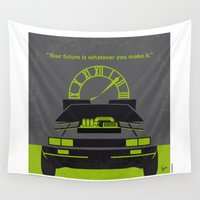 mcfly Wall Tapestries featuring No183 My Back to the Future minimal movie poster-part III by Chungkong