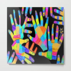 Hands of colors | Hands of light Metal Print