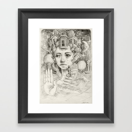 The Island Framed Art Print