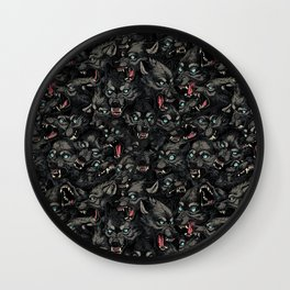 Wolf Pack Pattern Wall Clock