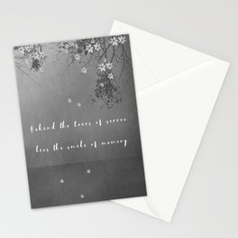 Behind the tears of sorrow lies the smile of memory. Stationery Cards