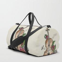 Violin and Flowers Duffle Bag