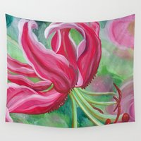 lily Wall Tapestries featuring lily by Beth Jorgensen
