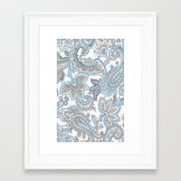 blueprint Framed Art Prints featuring BluePrint by surfed