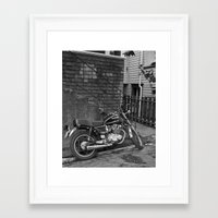 motorcycle Framed Art Prints featuring Motorcycle by Cydney Melnyk Photography