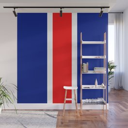 TEAM COLORS 10....RED, WHITE AND NAVY Wall Mural