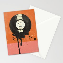 VINTAGE VINYL DRIP Stationery Cards
