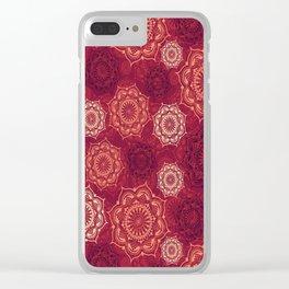 Mystic Mandala - Hot Safran Clear iPhone Case