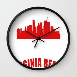 I Was Born In Virginia Beach Wall Clock