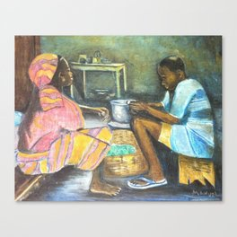 The supper Canvas Print