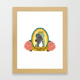 Only Dog Can Judge Me | Stella | Blue Nose Pitbull Framed Art Print