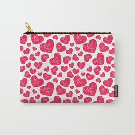 Scribbled hearts Carry-All Pouch