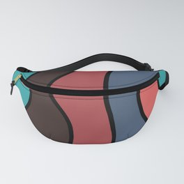 Striped Volcanoes Fanny Pack