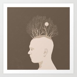 NATURE PORTRAITS 03 SIMPLIFIED Art Print