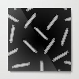 LINA ((white on black)) Metal Print