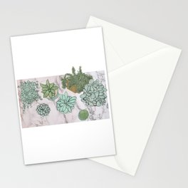 mixed succulents Stationery Cards