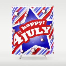 4th of july design Shower Curtain