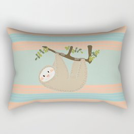 Cute Sloth Hanging From Tree Rectangular Pillow