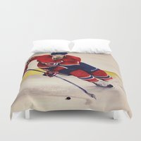 hockey Duvet Covers featuring Canadian hockey by LisaBCreations