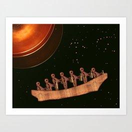 On Scrolls Carried by Canoe Art Print
