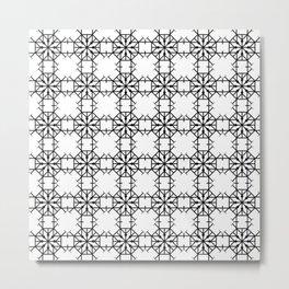 Geometric Roundhouse Pattern Metal Print
