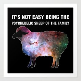 Psychedelic Sheep of the Family (4) Art Print